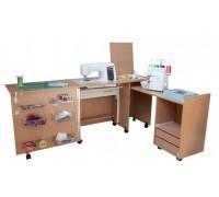 Стол для швейной машины и оверлока Комфорт-3L-до 15 кг