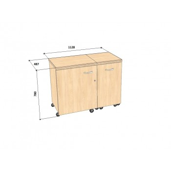 Стол для швейной машины и оверлока Комфорт-3L
