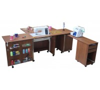 Стол для швейной машины и оверлока Комфорт-4L-до 15 кг