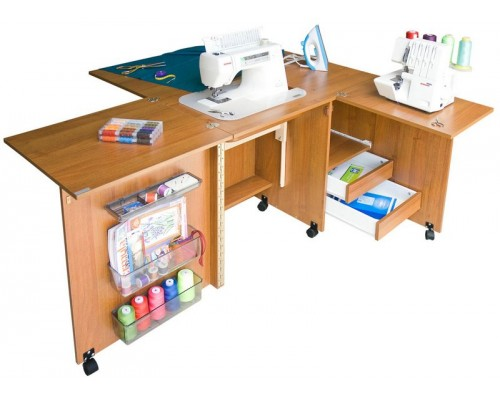 Стол для швейной машины и оверлока Комфорт-5+ -до  10 кг