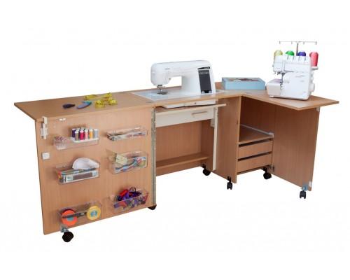 Стол для швейной машины и оверлока Комфорт-5L