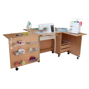 Стол для швейной машины и оверлока Комфорт-5L+