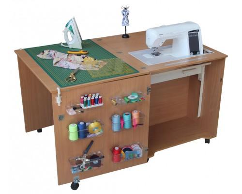 Стол для швейной машины и оверлока Комфорт 1QL-до 15 кг