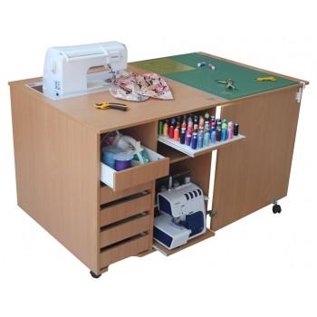 Стол для швейной машины и оверлока Комфорт 1QL
