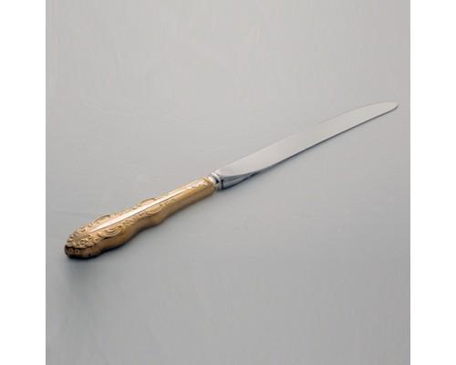Нож столовый Юбилейные частичная позолота Кольчугино