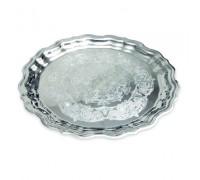Поднос круглый «Кольчугинский» хромированный