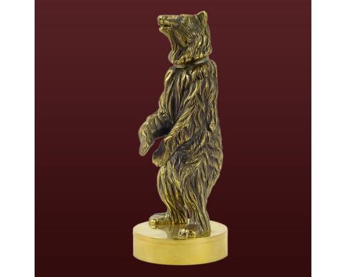 """Ручка для печати из бронзы """"Медведь"""""""