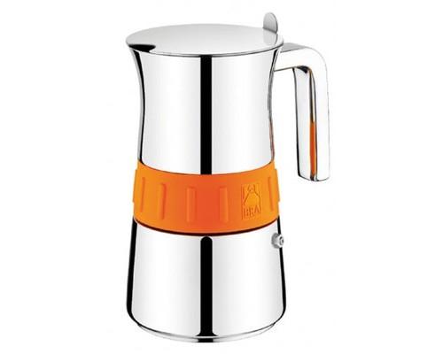 Кофеварка гейзерная Bra Elegance Orange на 6 чашек