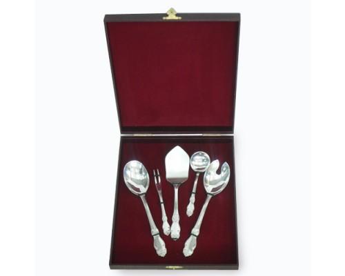 Набор 5 предметов Серебряная Роза посеребренные Кольчугино