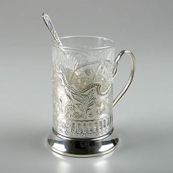 Набор для чая Кольчугинские зори посеребренный