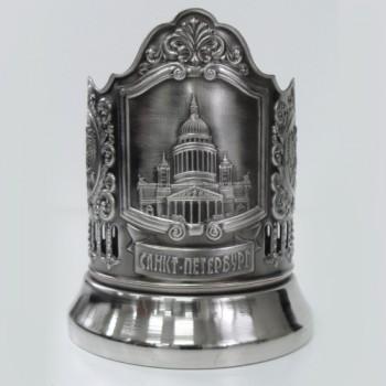 Подстаканник никелированный Санкт-Петербург с чернью